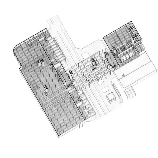 Axonometrie, Tafel 01, 120x120cm
